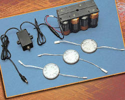 Battery Powered LED Light System includes built-in timer.
