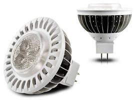 LED Spotlight illuminates from front and back.