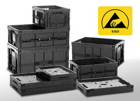 ESD Protective Boxes have space-saving design.