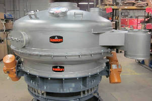 Pressure Sifter scalps bulk materials at 50 tons/hr.