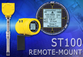 Air/Gas Flowmeter can be mounted remotely in hazardous areas.