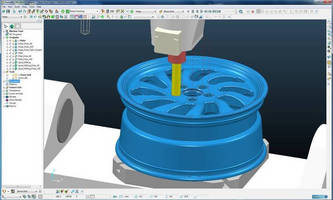 CAM Software includes optimized roughing, finishing strategies.