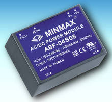 Miniature 4 W AC/DC Power Supplies are fully encapsulated.