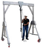 Aluminum Gantry Lift offers 4,400 lb capacity.