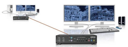 KVM Extender drives uncompressed dual-DVI peripherals.
