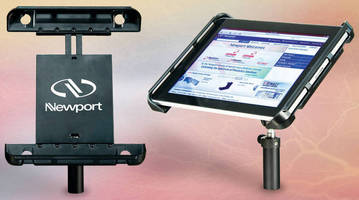 Tablet Computer Mount is stable and fully adjustable.