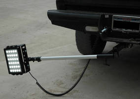 Mobile LED Work Area Light mounts to trailer hitch.