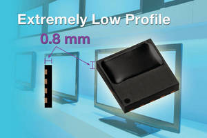 Remote Control IR Receiver offers low, 0.8 mm profile.