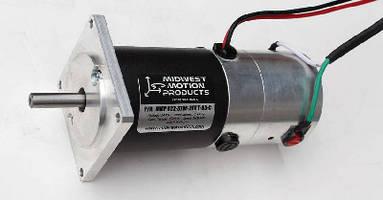 Reversible DC Motor features integral analog tachometer.