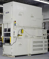 Vertical Conveyor Oven is electrically heated to 300°F.