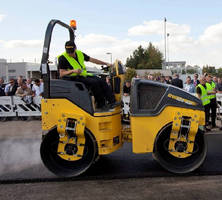 Tandem Vibratory Roller features 35.4 in. diameter drums.