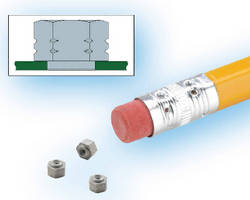 Steel Fasteners can be used as nuts or standoffs in SMTapplications.