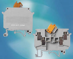 Knife Disconnect Terminal Blocks enable safe circuit testing.