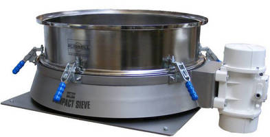 Liquid/Powder Vibratory Screeners have straight-through design.