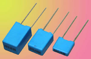 Metallized Polyester Box Capacitors suit telecom applications.