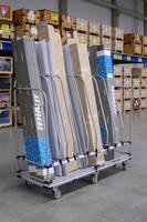 Warehouse Vertical Divider Cart