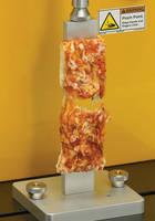 Texture Analyzer assess pizza crust quality.