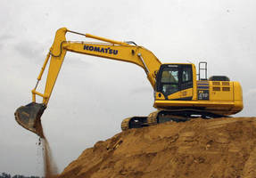 Hydraulic Excavator balances power and fuel efficiency.