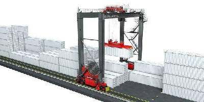 Rubber Tired Gantry Cranes offer hybrid power option.