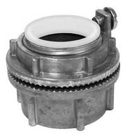 Aluminum Watertight Hubs protect enclosed electrical equipment.