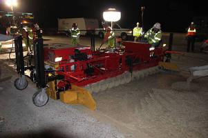 Ride-On Roller Screed utilizes 8 in. diameter paving tubes.