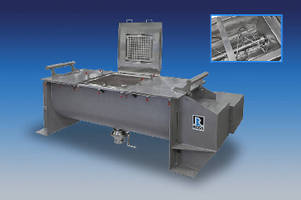 Ribbon Blenders feature gasket-free covers.
