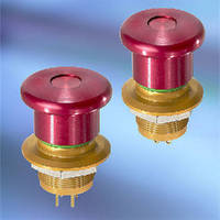 Emergency Stop Pushbuttons suit heavy-duty applications.