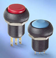 Sealed Snap-Action Pushbutton Switch offers audible feedback.