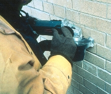 Mortar Saw cuts joints dust free.