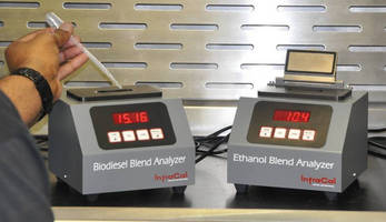 Portable IR Analyzers measure fuel blend on-site in under 1 min.