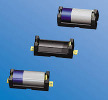 Lithium Battery Holders feature polarized contacts.