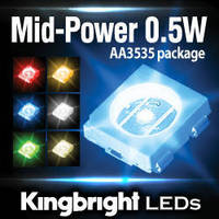 Mid-Power LEDs target handheld and portable devices.