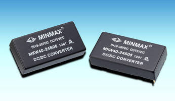 DC/DC Power Modules offer efficiency ratings up to 92%.