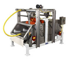 Rectangular Separator washes screen mesh free of solids.