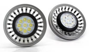 Efficient 10 W LED Lamps replace AR111/G53 halogen lamps.