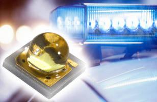 Blue LED Light enhances emergency vehicle lighting visibility.