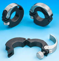 Hinged Shaft Collar is suited for non-rotary applications.
