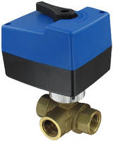 Electric Ball Valves control water flow in HVAC systems.