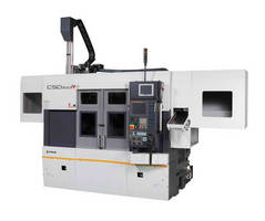 Featuring Live Tools, Fuji's New CSD-300R Twin Spindle, Twin Turret Lathe Turns, Drills, and Mills in the Same Setup