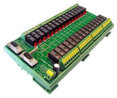 USB-based Controller Board accommodates up to 32 relays.
