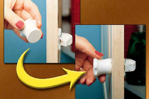 Magnetic Lock System secures cabinet doors and drawers.