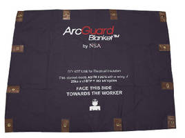 Suppression Blanket protects workers from arc blast.