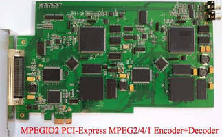 PCI-Express Card encodes/decodes real-time MPEG2/4/1 video.