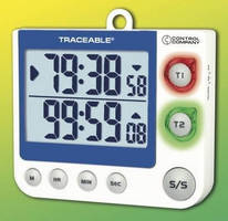 Compact Timer offers count up/down operation and clock.
