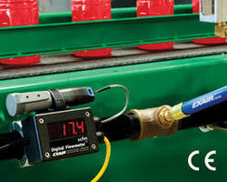 Digital Flowmeter includes pre-installed USB data logger.