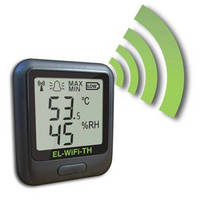 Temperature, Humidity Datalogger transmits over Wi-Fi networks.