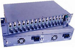 16-Slot Media Converter Chassis with Dual Cooling Fans