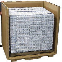 Insulated Pallet Packaging keeps contents at 15 to 30°C.