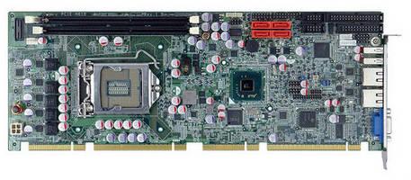 Full-Size PICMG 1.3 SBC offers multiple I/O, processor options.
