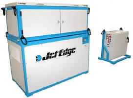 Waterjet Intensifier Pump features portable, modular design.